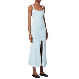 Anna Quan Blue Jana Cotton-knit Midi Dress