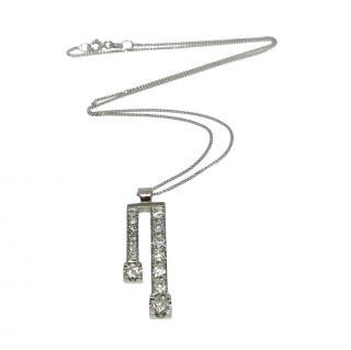Bespoke 18ct White Gold Diamond Pendant Necklace