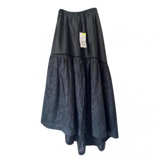Veronique Branquinho Black Lasercut Asymmetric Skirt