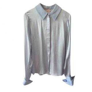 ROKSANDA Blue hammered silk blouse