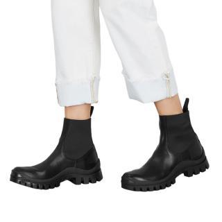 ATP Atelier Black Leather Catania Chelsea Boots