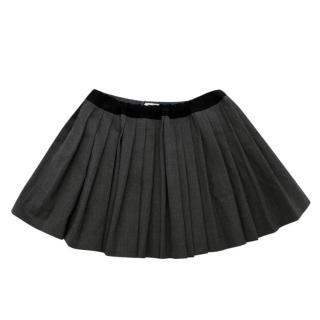 Bonpoint Kid's 4Y Grey Wool-blend Pleated Skirt