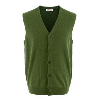 Kangra for Eredi Chiarini Green Cashmere-blend Vest