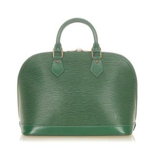 Louis Vuitton Green Epi Leather Alma PM Tote Bag