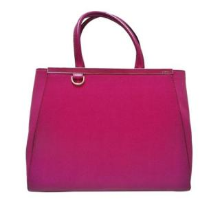 Fendi Pink 2Jours Leather Tote Bag