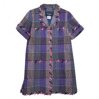 Chanel Purple Multicoloured Tweed Jacket