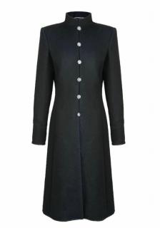 Chanel Black Paris/Shanghai Cashmere High Neck Coat