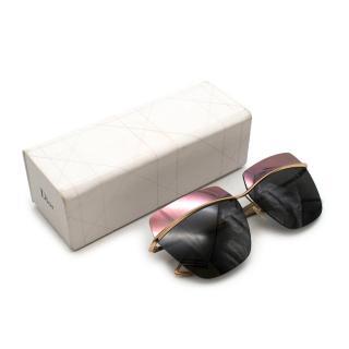 Dior by Raf Simons Mirrored 2-tone Squared Sunglasses