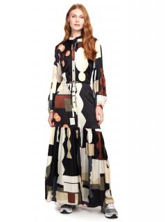 Munthe Silk Blend Emmanuel Maxi Dress