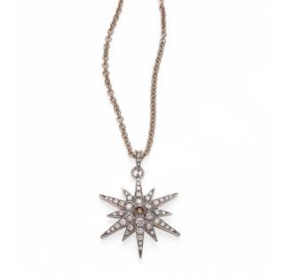 H Stern Noble Gold & Diamond Stars Pendant Necklace