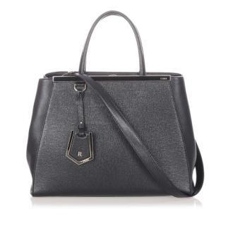 Fendi Black 2Jours Leather Satchel