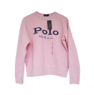 Polo Ralph Lauren Pink Logo Sweatshirt