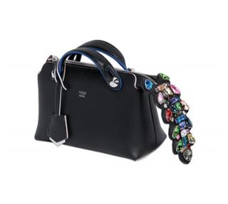 Fendi By The Way Mini Crystal-croc-tail Bag