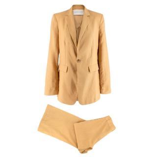 Asceno Azores Mustard Linen Blazer and Rivello High-Rise Trouser