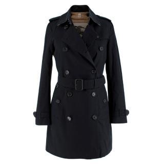 Burberry Black Mid-Length Chelsea Heritage Trench Coat