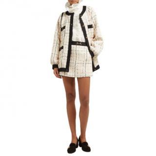 Gucci Horsebit cotton-blend boucl�-tweed mini skirt