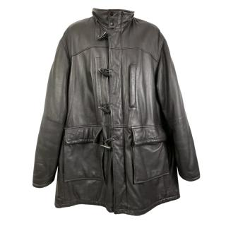 Burberry Vintage Brown Leather Coat