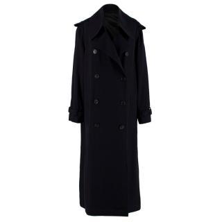 Acne Studio Lucie TW Aceta Black Maxi Trench Coat