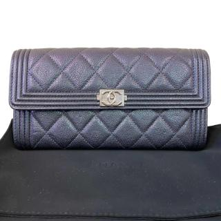 Chanel Iridescent Leather Boy Long Wallet
