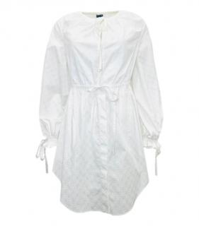 Alexandr McQueen White Broderie Anglaise Mini Dress