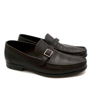 Salvatore Ferragamo Brown Leather Loafers