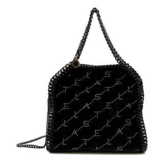 Stella McCartney Falabella Mini Crystal Monogram Velvet Tote Bag