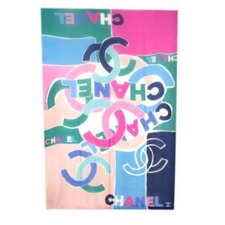 Chanel Colorblock CC Cashmere Stole