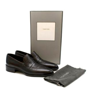 Tom Ford Brown Leather Loafers