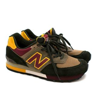 New Balance Green & Yellow Suede 576 Made in England Trainers