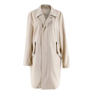 Burberry Stone Zip Trench Coat with Detachable Hood