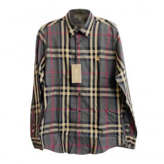 Burberry Ash Nova Check Mens Shirt