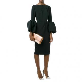 Roksanda Bell Sleeve Margot Black Dress