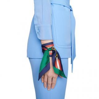 Gucci Red Green & Blue Horse Bit Silk Bandeau