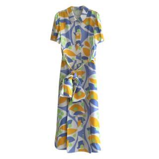 Miu Miu Lilac/Yellow Floral Button Down Dress