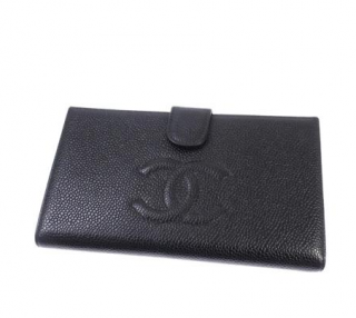 Chanel Black Caviar Leather Timeless CC Wallet