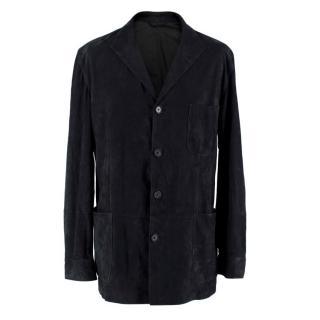 Bel y Cia Teba Navy Suede Tailored Jacket