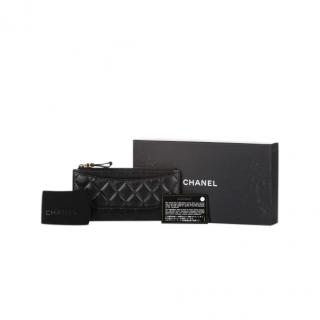 Chanel Aged Quilted & Smooth Leather Long Wallet