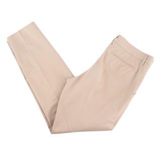 Bottega Veneta Stone Cotton Chino Trousers