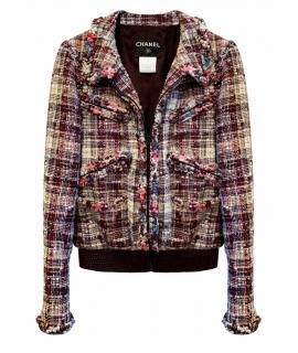Chanel Pastel Fantasy Tweed Rare Bomber Jacket