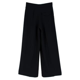 The Row Black Crepe Flared Trousers