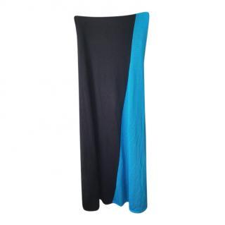 Ralph Lauren Black Label Strapless Bi-Colour Dress