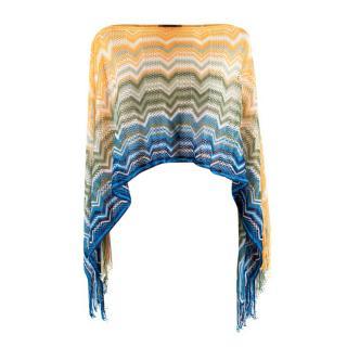 Missoni Multicolour Knit Cropped Poncho