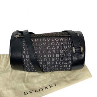 Bvlgari Vintage Leather & Canvas Shoulder Bag
