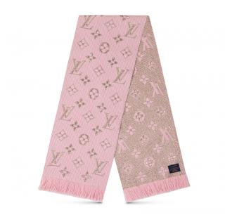 Louis Vuitton Rose Ballerine Logomania Shine Scarf