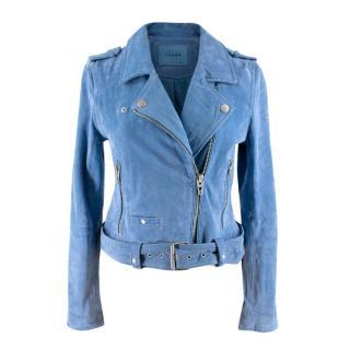 Blank NYC Blue Suede Biker Jacket