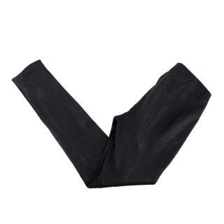 Ralph Lauren Black Lambskin Leather Leggings