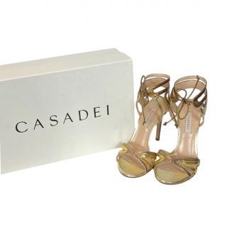 Casadei metallic cut-out sandals