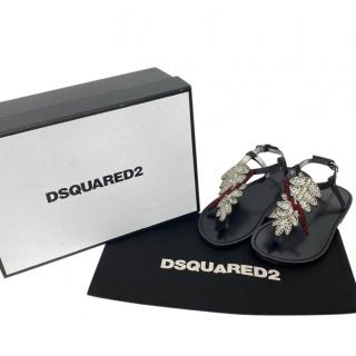 DSquared2 Crystal Thong Sandals