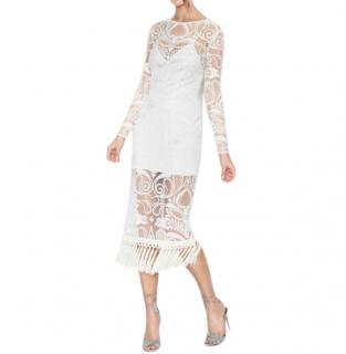 Alice McCall Tattoo Lady White Lace Long Sleeve Dress