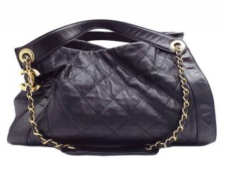 Chanel Black Quilted Leather CC Chain Shoulder Bag